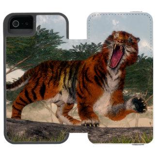 Tiger roaring - 3D render Incipio Watson™ iPhone 5 Wallet Case