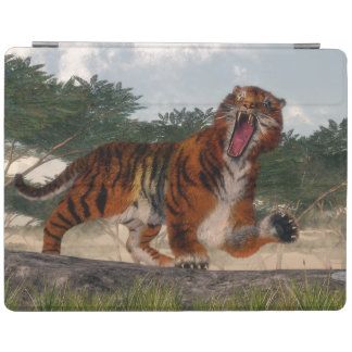 Tiger roaring - 3D render iPad Cover