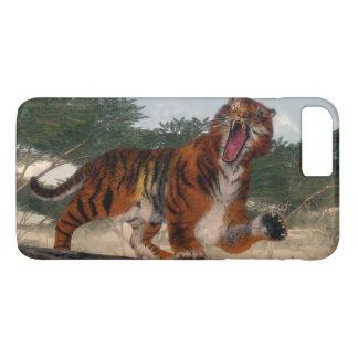 Tiger roaring - 3D render iPhone 8 Plus/7 Plus Case