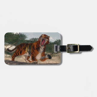 Tiger roaring - 3D render Luggage Tag