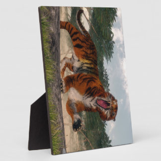 Tiger roaring - 3D render Plaque