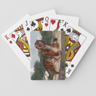 Tiger roaring - 3D render Playing Cards
