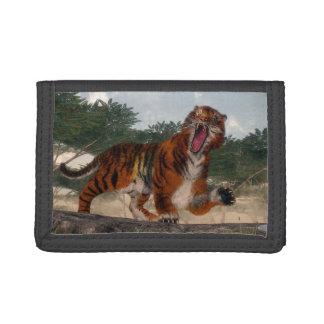 Tiger roaring - 3D render Tri-fold Wallet