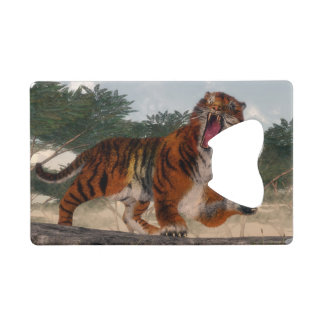 Tiger roaring - 3D render Wallet Bottle Opener