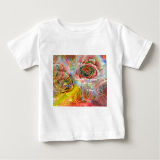 Tiger, roses and good message baby T-Shirt