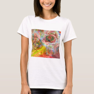 Tiger, roses and good message T-Shirt