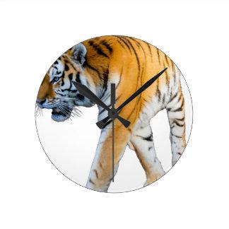 Tiger Round Clock