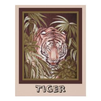 Tiger Scrapbook Paper Letterhead Template