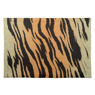 Tiger seamless pattern texture background placemat