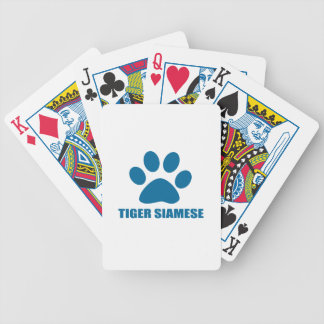 TIGER SIAMESE CAT DESIGNS BICYCLE PLAYING CARDS