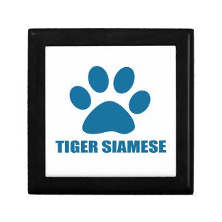 TIGER SIAMESE CAT DESIGNS GIFT BOX