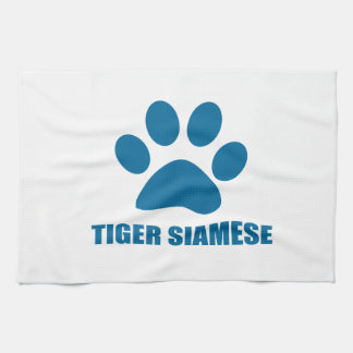 TIGER SIAMESE CAT DESIGNS KITCHEN TOWEL