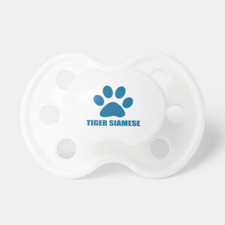 TIGER SIAMESE CAT DESIGNS PACIFIER