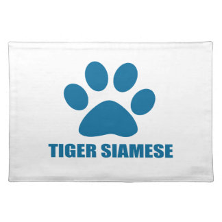 TIGER SIAMESE CAT DESIGNS PLACEMAT