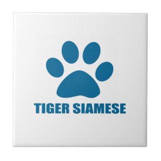 TIGER SIAMESE CAT DESIGNS TILE