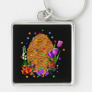 Tiger Skin Easter Egg Keychains