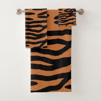 Tiger Skin Pattern Design Bath Towel Set
