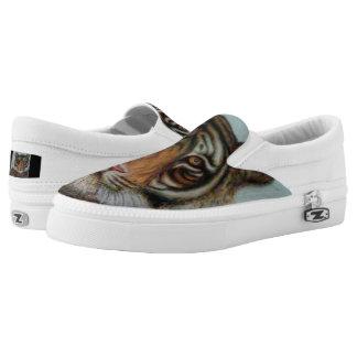 """Tiger"" Slip-On Sneakers"