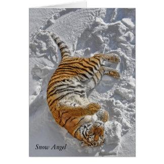 "Tiger ""Snow Angel"" Card"