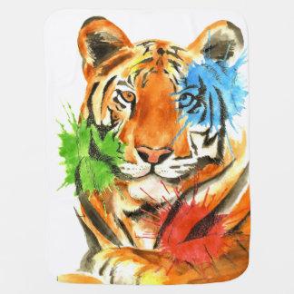 Tiger Splatter Baby Blanket