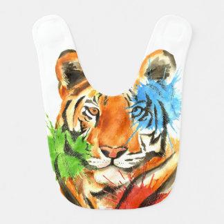 Tiger Splatter Bib