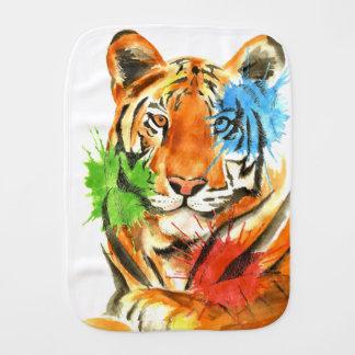 Tiger Splatter Burp Cloth