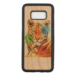 Tiger Splatter Carved Samsung Galaxy S8 Case