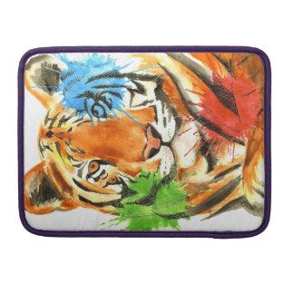 Tiger Splatter Sleeve For MacBooks