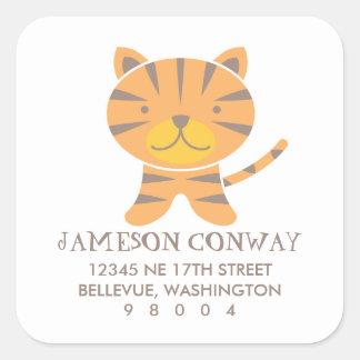 Tiger Square Address Label