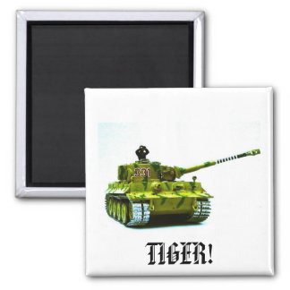 TIGER! SQUARE MAGNET