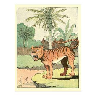 Tiger Story Book Postcard