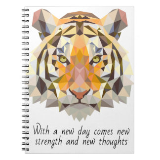 Tiger Strength Quote Notebook