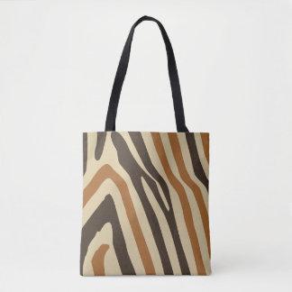 Tiger Stripe All-Over-Print Tote Bag