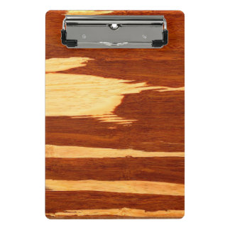 Tiger Stripe Bamboo Wood Grain Look Mini Clipboard