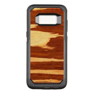 Tiger Stripe Bamboo Wood Grain Look OtterBox Commuter Samsung Galaxy S8 Case