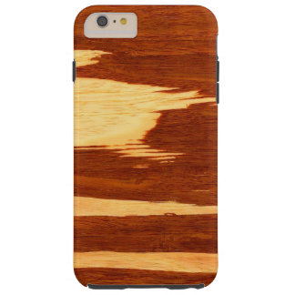 Tiger Stripe Bamboo Wood Grain Look Tough iPhone 6 Plus Case