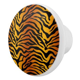 Tiger stripe ceramic knob