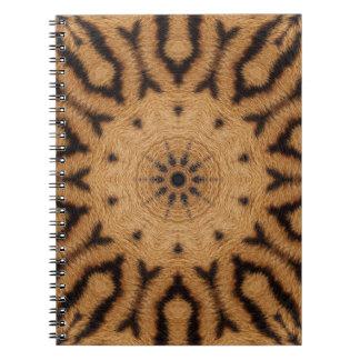 Tiger Stripe Kaleidoscope design Notebook
