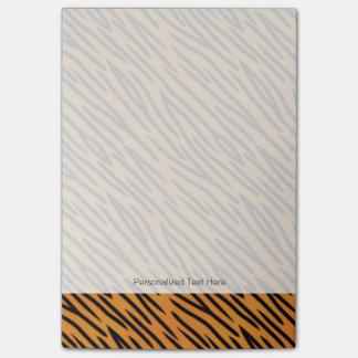 Tiger Stripe Pattern Post-it Notes