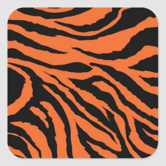 Tiger Stripe Square Stickers