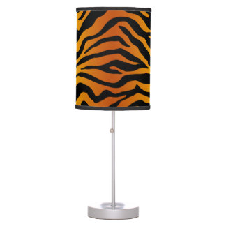 Tiger stripe table lamps