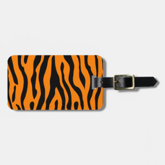 Tiger Striped luggage tag - calling all tigers!