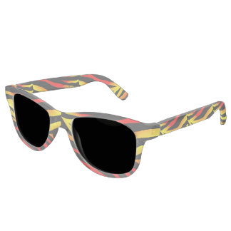 Tiger Stripes Animal Print Adult Retro Sunglasses