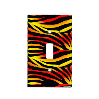 Tiger Stripes Animal Print Light Switch Cover