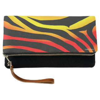 Tiger Stripes Animal Print Pattern Clutch Purse