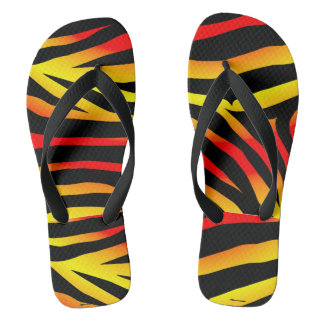 Tiger Stripes Animal Print Pattern Flip Flops