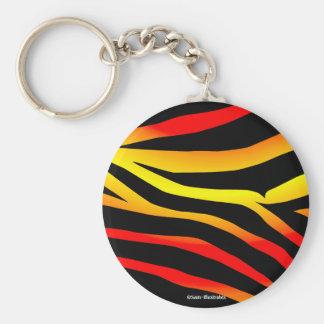 Tiger Stripes Animal Print Pattern Keychain