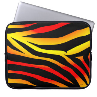 Tiger Stripes Animal Print Pattern Laptop Sleeve