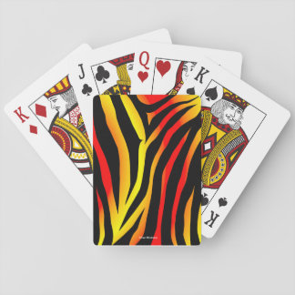 Tiger Stripes Animal Print Pattern Playing Cards