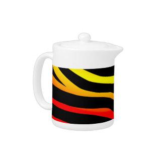Tiger Stripes Animal Print Patterned Teapot
